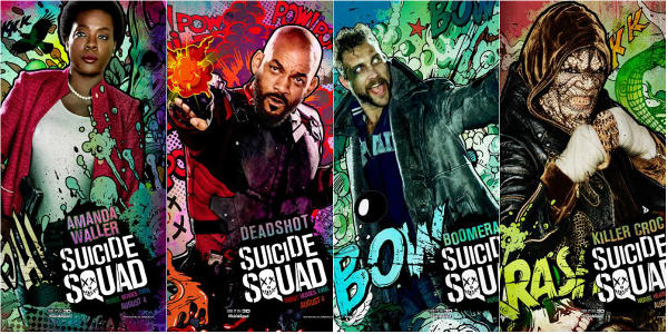 """Comic Book-Style Character Posters Released for """"Suicide Squad"""""""