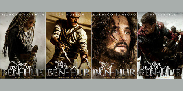 "Four ""Ben-Hur"" Actors Get Own Character Posters"