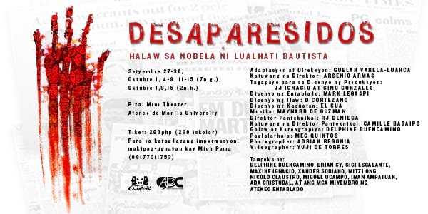 desaparesidos lualhati bautista A symptomatic reading of lualhati bautista's desaparesidos, accentuating the gaps and silences that reveal the ideological physiognomy of the milieu in neocolonial.