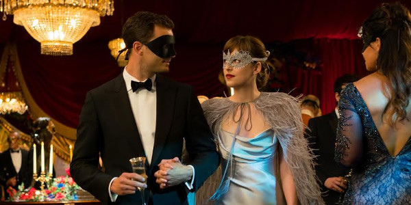 "Monique Lhuillier Designs One of Anastasia Steele's Signature Looks in ""Fifty Shades Darker"""