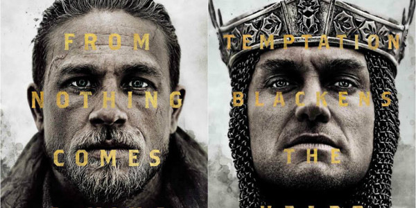 "Charlie Hunnam, Jude Law Stare Down in New ""King Arthur"" Posters"