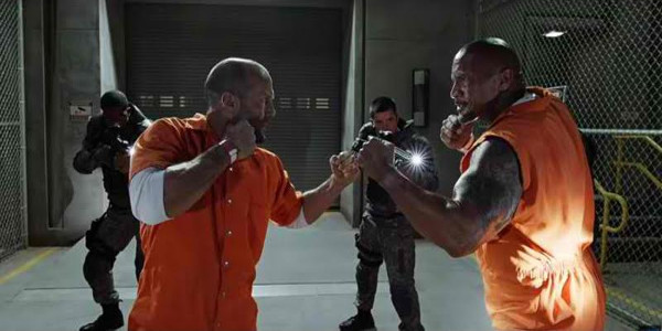 "Dwayne Johnson Takes on Jason Statham in ""Fast & Furious 8"""