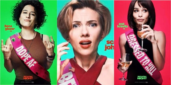 Rough Night Stars Rock Their Character Posters