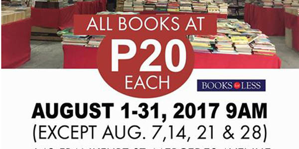 Get Your Next Favorite Read for Only P20 at the Books For Less Warehouse Sale This August