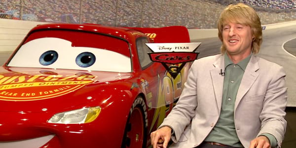 "Owen Wilson Speaks for Lightning McQueen in ""Cars 3"""