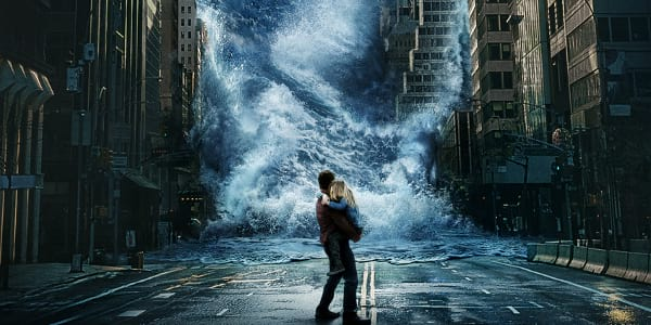 "Tsunami Looms in the First ""Geostorm"" Poster"