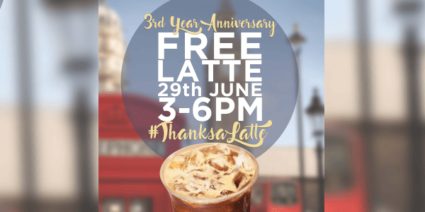 Free Ice-Shaken Latte on June 29