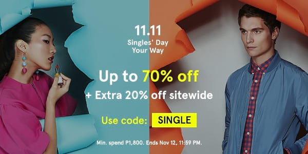 Up to 70% Off on Premium Fashion Brands on Zalora's 11.11 Singles' Day