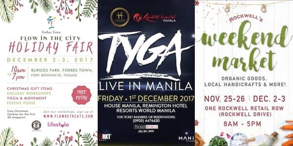 Weekender Guide: December 1, 2, and 3, 2017