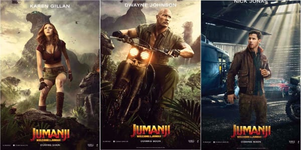 """""""Jumanji's"""" Larger-Than-Life Characters in Solo Posters"""
