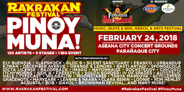 Check Out: All The Bands and Artists to See In This Year's Rakrakan Festival