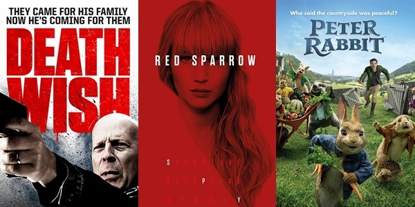 New Movies This Week: Death Wish, Red Sparrow and more!