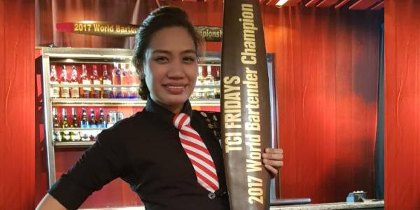Filipina Bartender, Jholan Peñafiel, is TGIFridays World Bartender Champion!
