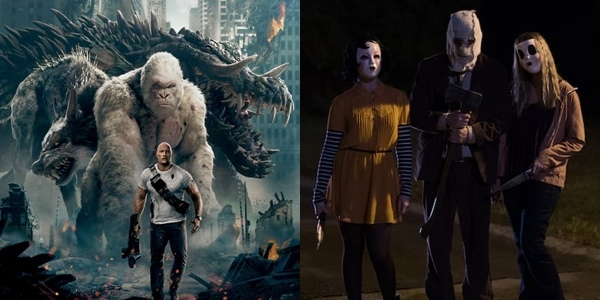 New Movies This Week: Rampage, The Strangers: Prey at Night and more!