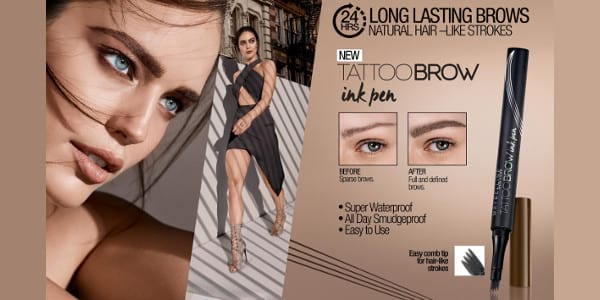 Achieve 24H Long-Lasting Brows with Maybelline's New Tattoo Brow Ink Pen