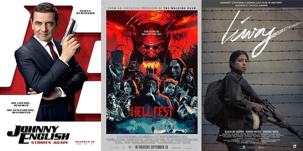 New Movies This Week: Johnny English Strikes Again, Hell Fest and more!