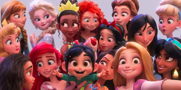 Vanellope Meets the Disney Princesses in Ralph Breaks the Internet