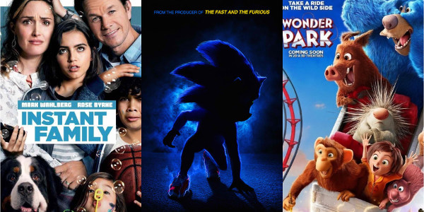 Instant Family, Wonder Park, Sonic the Hedgehog Launch New Posters