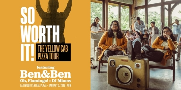 Read more about the article The Yellow Cab Pizza Tour Kicks Off With Ben&Ben, Oh, Flamingo!, and DJ Miaow!