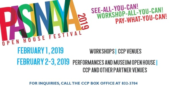 Three Days of Art Workshops, Performances, and More Await You at Pasinaya 2019!
