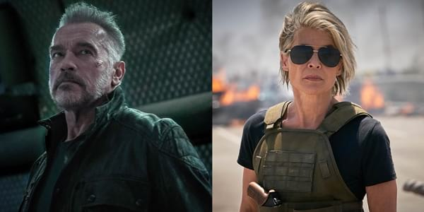 Sarah Connor and T-800 Are Back In New Photos of 'Terminator: Dark Fate'