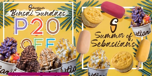 Get P20 Off Your Bonsai Sundae this May at Sebastian's Ice Cream