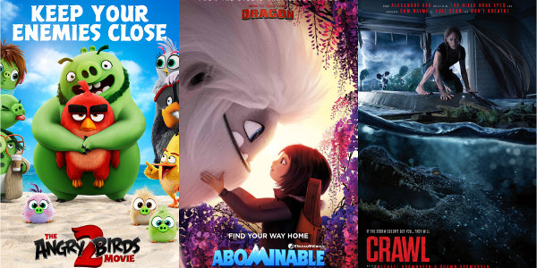 Animals Rule in 'Angry Birds 2,' 'Crawl,' and 'Abomimable'