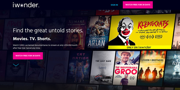 New Streaming Site iwonder Launches in the Philippines Today!