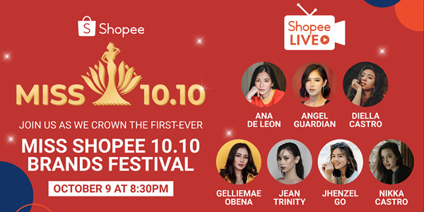 Shopee is Holding Its First Miss Shopee 10.10 Brands Festival This October 10