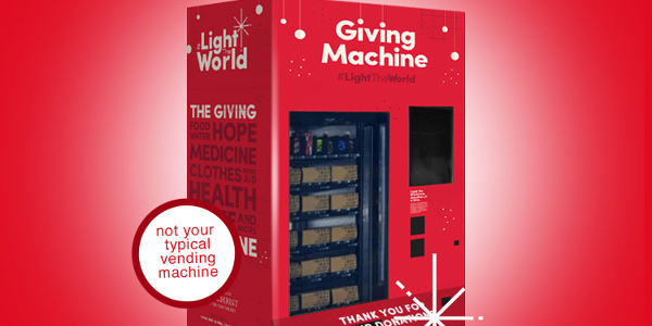Light the World Giving Machines