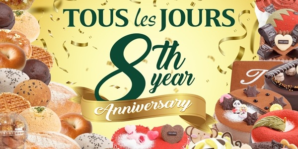 Tous Les Jours is Offering A Special Promo For Their 8th Anniversary!