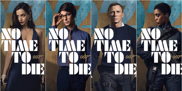 Latest James Bond Flick 'No Time to Die' Reveals Character Posters