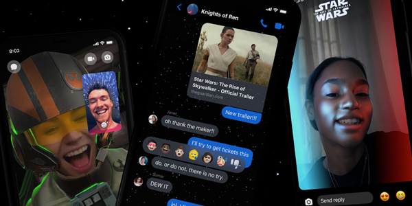 Messenger App Launches Star Wars-Themed Features!