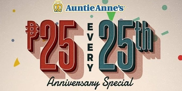 Enjoy 25-Peso Pretzels with Auntie Anne's New Promo!