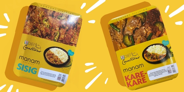Manam's Sisig & Kare-Kare Are Now Available at 7-Eleven Today!