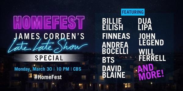 BTS, Billie Eilish, Dua Lipa, and More Stars to Perform on James Corden's 'Homefest'