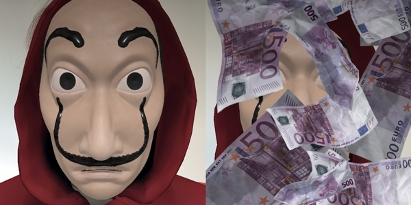 Don The Dalí Mask with The Money Heist Instagram Filter