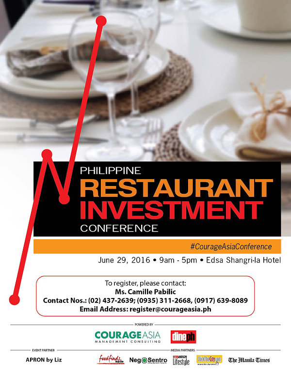 Philippine Restaurant Investment Conference powered by COURAGE ASIA