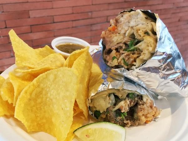 Carnitas de Puerco (pork) Burrito