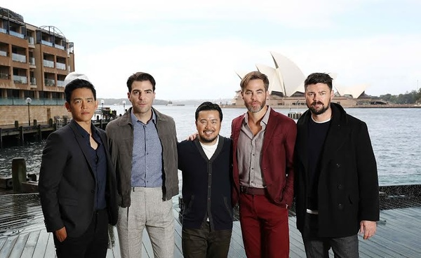 Star Trek Beyond director, Justin Lin and cast