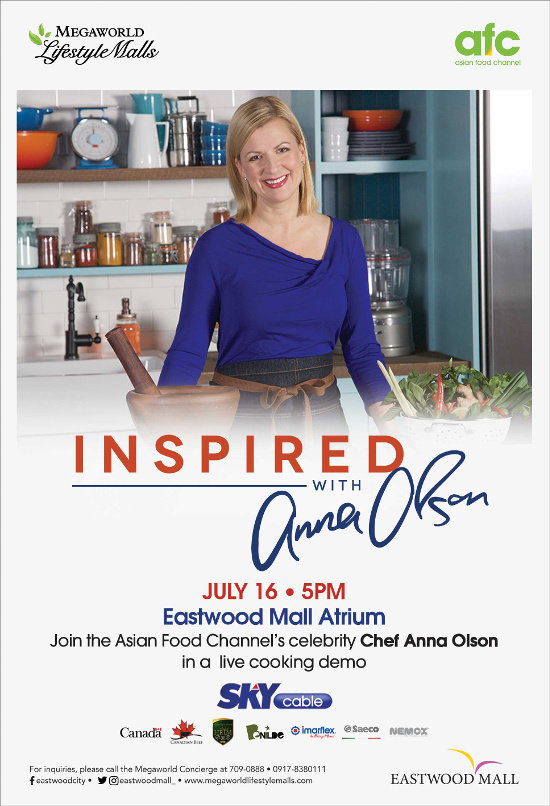 Catch canadas baking sweetheart anna olson live at eastwood mall asian food channel host chef anna olson forumfinder Gallery