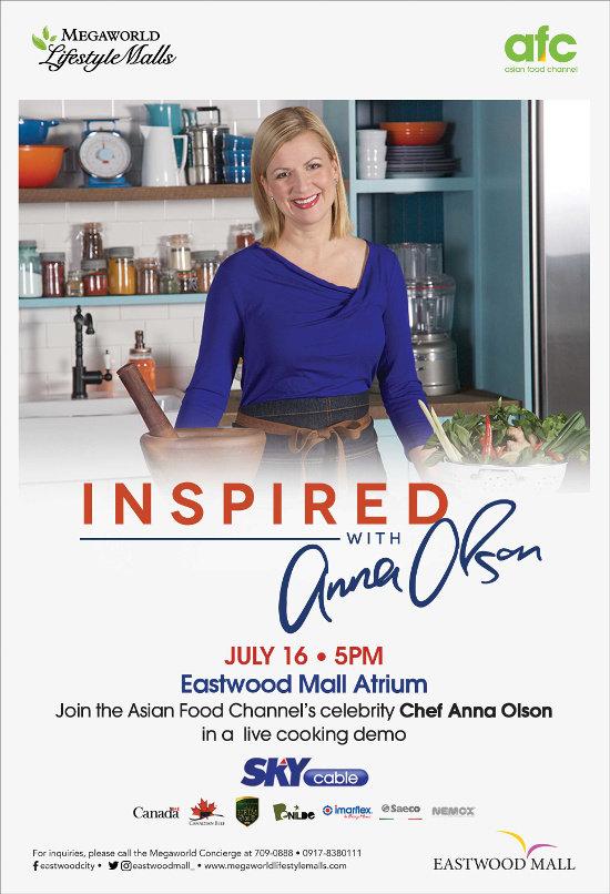 Asian Food Channel Host Chef Anna Olson