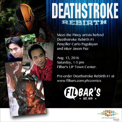 DC Comics Deathstroke art team Carlo Pagulayan and Michael Jason Paz