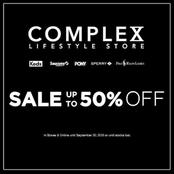 0048bdb30cc Complex Lifestyle Store End of Season Sale