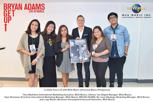 Bryan Adams with MCA