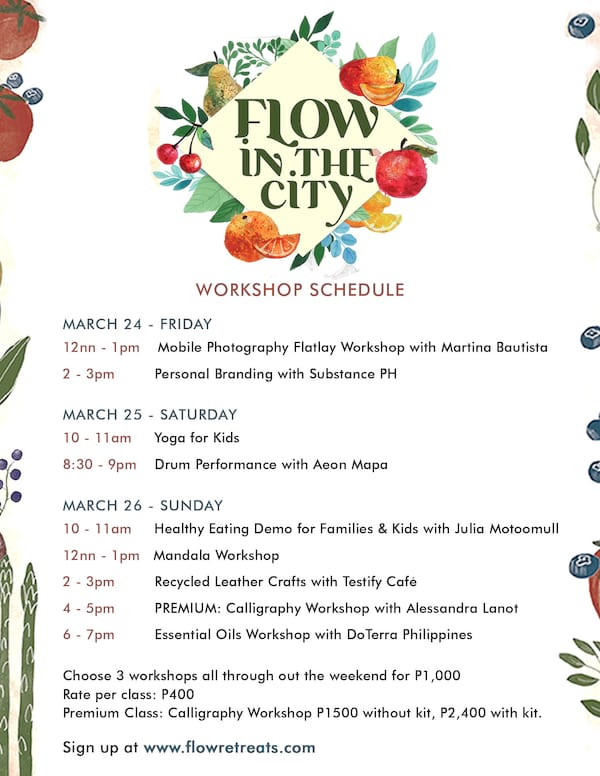 Flow in the City Sched