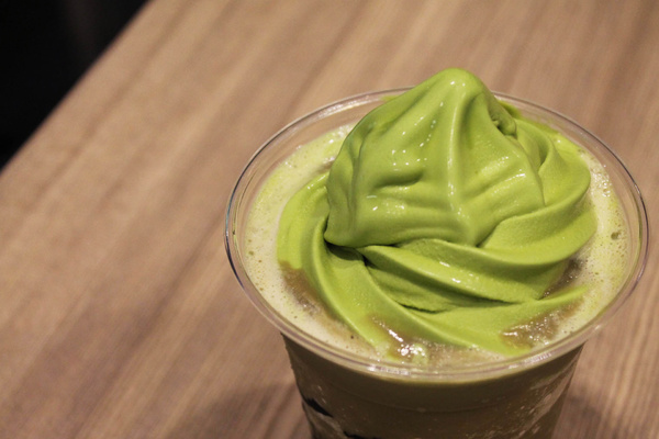 Tsujiri's Houjicha Milk Float