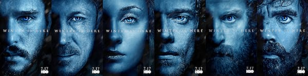 Game of Thrones Season 7 character posters