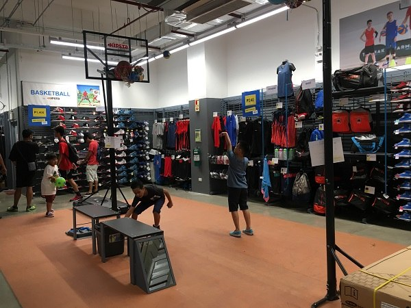 5cdb098eba4 You can test out products in different sports stations inside the store