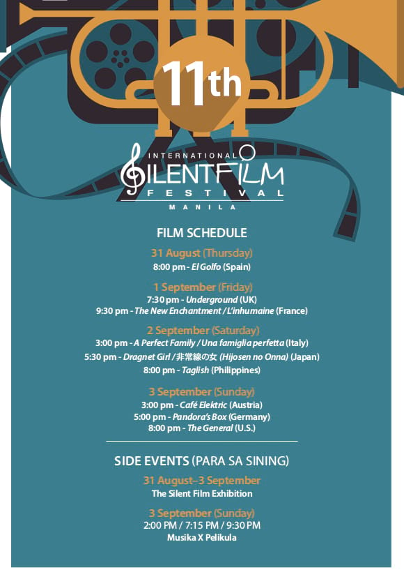 11th International Silent Film Festival in Manila